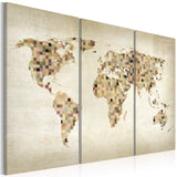 Canvas Print - Beige shades of the World - triptych