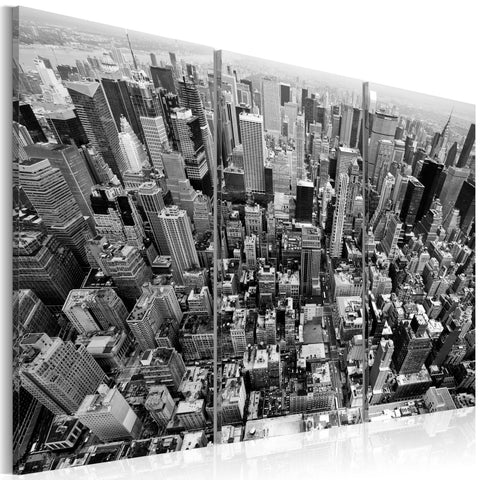 Canvas Print - A marvellous view on New York roofs