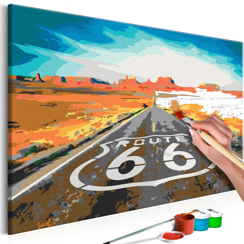 DIY canvas painting - Route 66