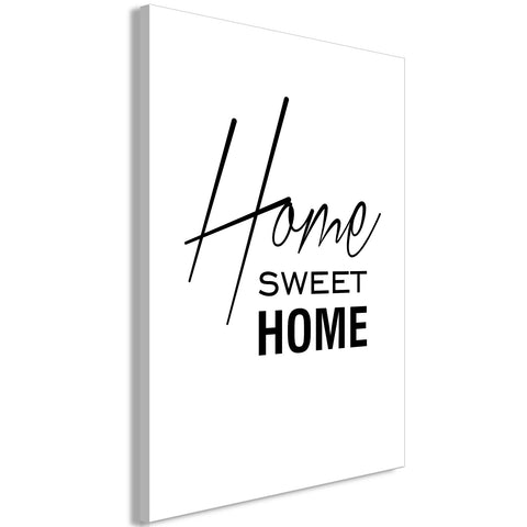 Canvas Print - Black and White: Home Sweet Home (1 Part) Vertical