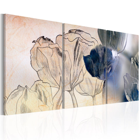Canvas Print - Sketch of Tulips