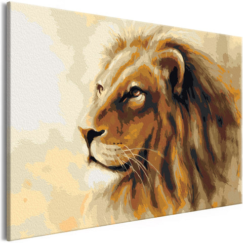 DIY canvas painting - Lion King