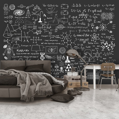 Wallpaper - Science on Chalkboard