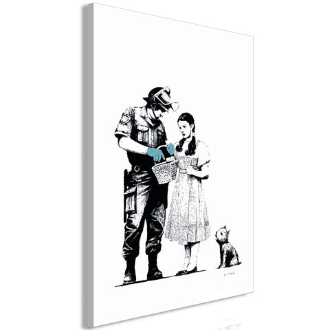 Canvas Print - Dorothy and Policeman (1 Part) Vertical