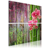 Canvas Print - Bamboo and orchid