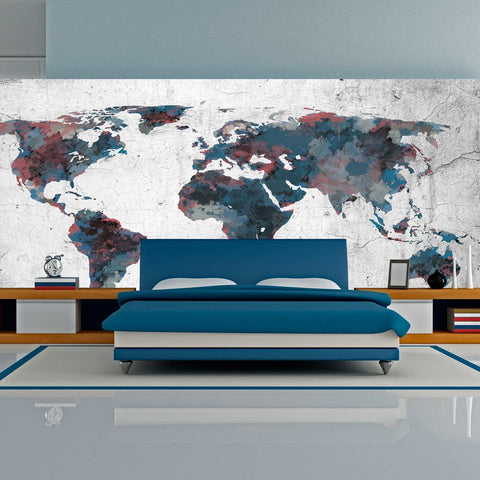 XXL wallpaper - World map on the wall