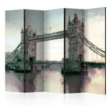 Room Divider - Victorian Tower Bridge II [Room Dividers]