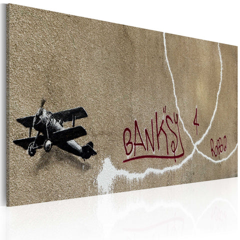 Canvas Print - Love plane (Banksy)