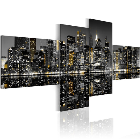 Canvas Print - Golden flash of skyscrapers