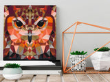 DIY canvas painting - Owl (Geometrical)