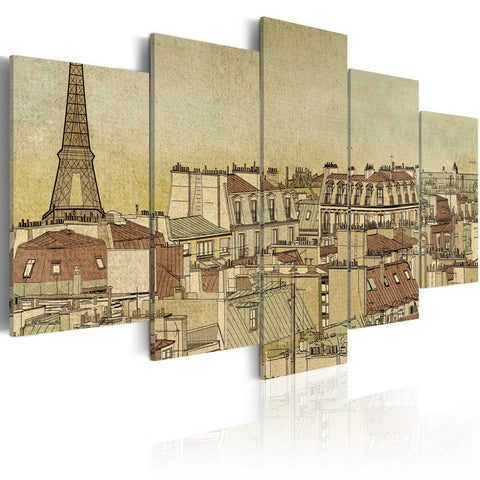 Canvas Print - Parisian past centuries