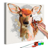 DIY canvas painting - Charming Fawn