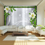 Wallpaper - Bamboo and two orchids
