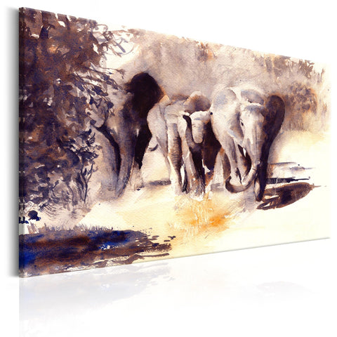 Canvas Print - Watercolour Elephants