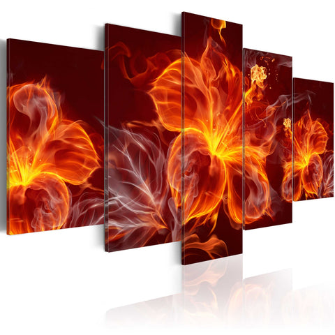 Canvas Print - Fiery Flowers