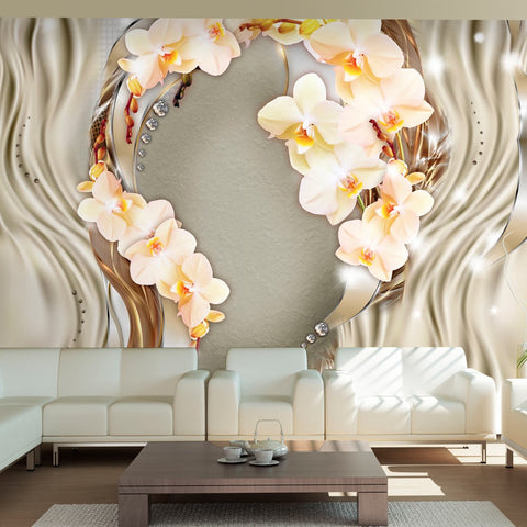 Wallpaper - Wreath of orchids