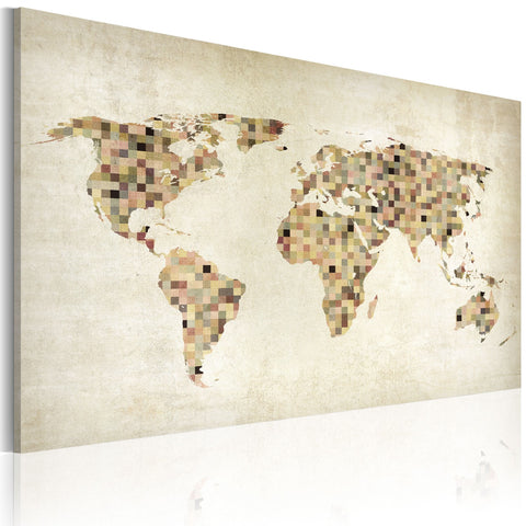Canvas Print - Beige shades of the World