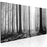 Canvas Print - Black and White Forest