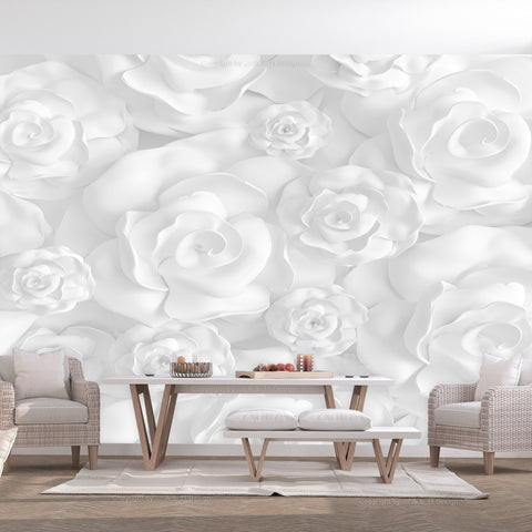 Wallpaper - Plaster Flowers