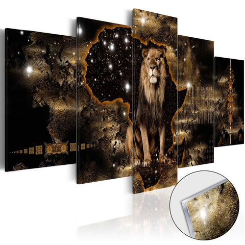 Acrylic Print - Golden Lion [Glass]