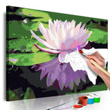 DIY canvas painting - Water Lily