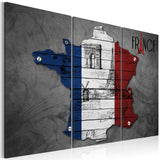 Canvas Print - Symbols of France - triptych