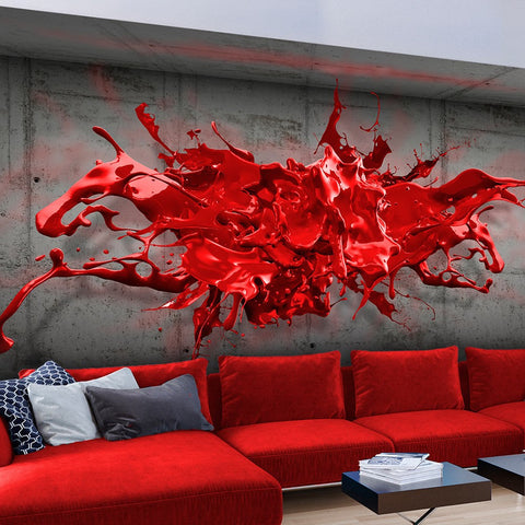 Wallpaper - Red Ink Blot