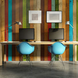 Wallpaper - Wooden rainbow