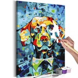 DIY canvas painting - Dog Portrait