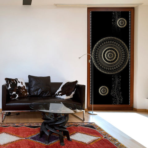 Photo wallpaper on the door - Photo wallpaper - Pattern – circles I