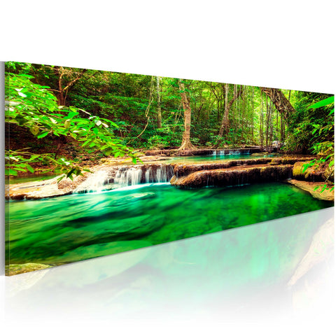Canvas Print - Emerald Waterfall
