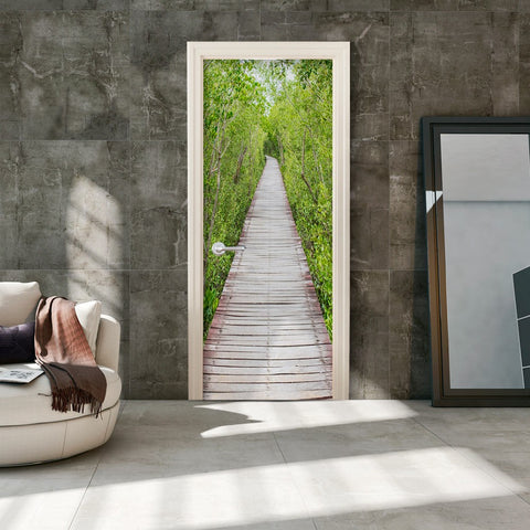 Photo wallpaper on the door - The Path of Nature