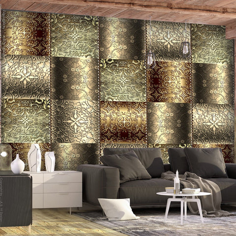 Wallpaper - Metal Plates