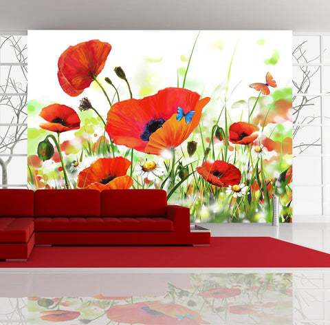 Wallpaper - Country poppies