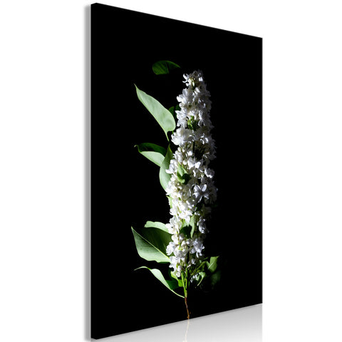 Canvas Print - White Lilacs (1 Part) Vertical