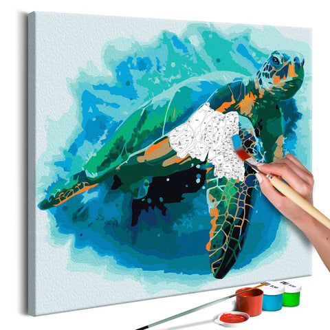 DIY canvas painting - Turtle