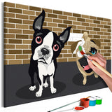 DIY canvas painting - Cute Dogs