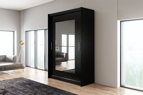 AVA 12.2 - 2 Sliding door wardrobe with LED Lights and the best separator shelf system >150x200cm<