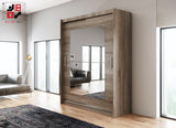 AVA 12.3 - 2 Sliding door wardrobe with LED Lights and the best separator shelf system >180x213cm<