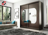 AVA 7.3 - 2 Sliding door wardrobe with LED Lights and the best separator shelf system >180x213cm<