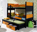 PINOCHET - Solid construction makes this triple bed perfect for your children