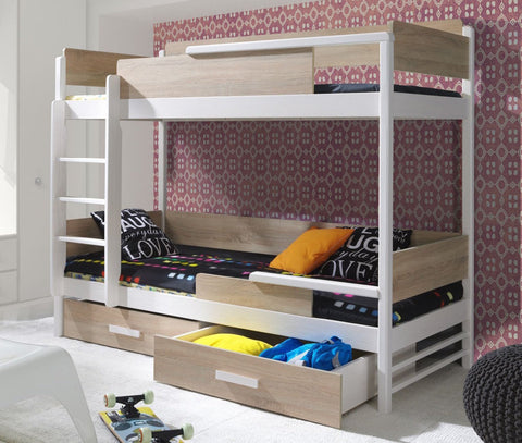 QUATRO II - Solid as bunker bunk bed with great functional - Wardrobe-Bunk-Bed-Sofa