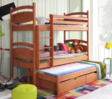 CESARO III - Solid and comfortable triple bunk bed - Wardrobe-Bunk-Bed-Sofa
