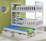 DOMINIC III - Perfect triple bunk bed for your loved ones - Wardrobe-Bunk-Bed-Sofa