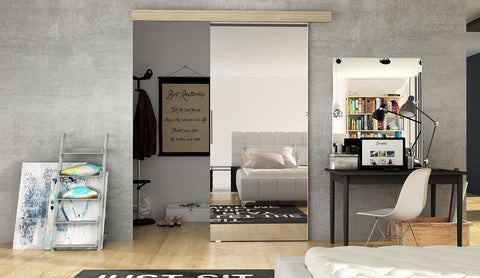 ERTA 2 - Modern Suspended Sliding Door, you can use as a room divider or a walk in wardrobe