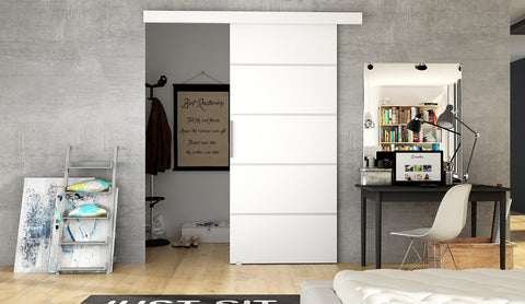 ETNA 3 - Modern Suspended Sliding Door, save space in your room or use for a walk in wardrobe