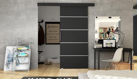 ERTA 3 - Modern Suspended Sliding Door, you can use as a room divider or a walk in wardrobe
