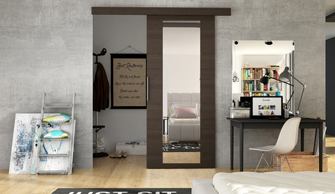 ERTA 4 - Modern Suspended Sliding Door, you can use as a room divider or a walk in wardrobe