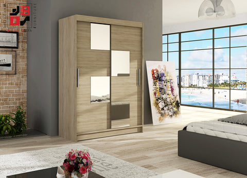 VEGAS III - 2 sliding door wardrobe with mirrors