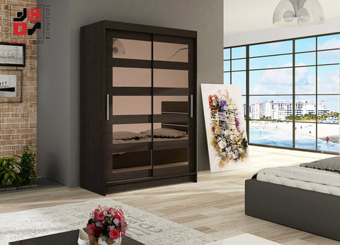 VEGAS IV - 2 sliding door wardrobe with mirrors